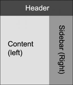 Макет из 2-х колонок